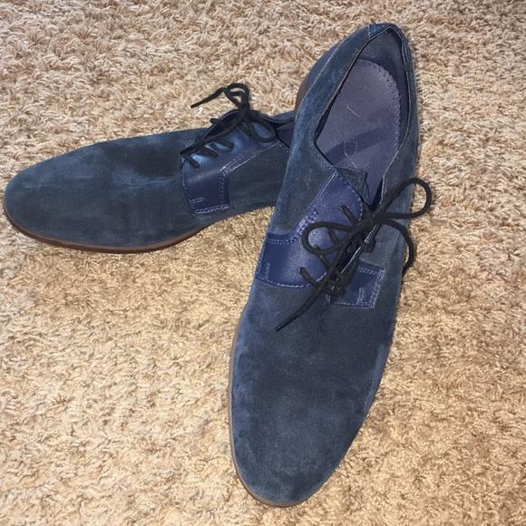 Aldo Shoes | Mens Blue Suede | Poshmark